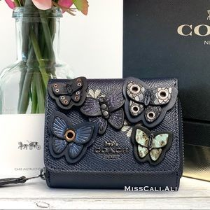 ✨HP✨COACH Butterfly Appliqué Small Trifold Wallet